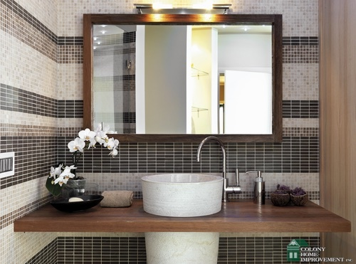 Small Bathroom Addition how to make a small bathroom in brookline, ma, appear larger