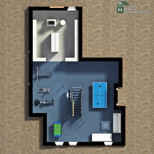 Consider your floor plan for your basement remodeling.