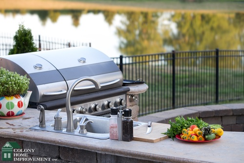 Take your kitchen outside with kitchen remodeling.