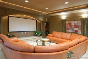 Home remodeling can include a home theater system.