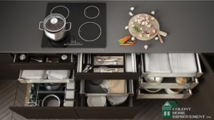 Choose the right storage solutions with the help of your remodeling contractors.