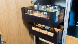 Consider storage options for your kitchen renovation.
