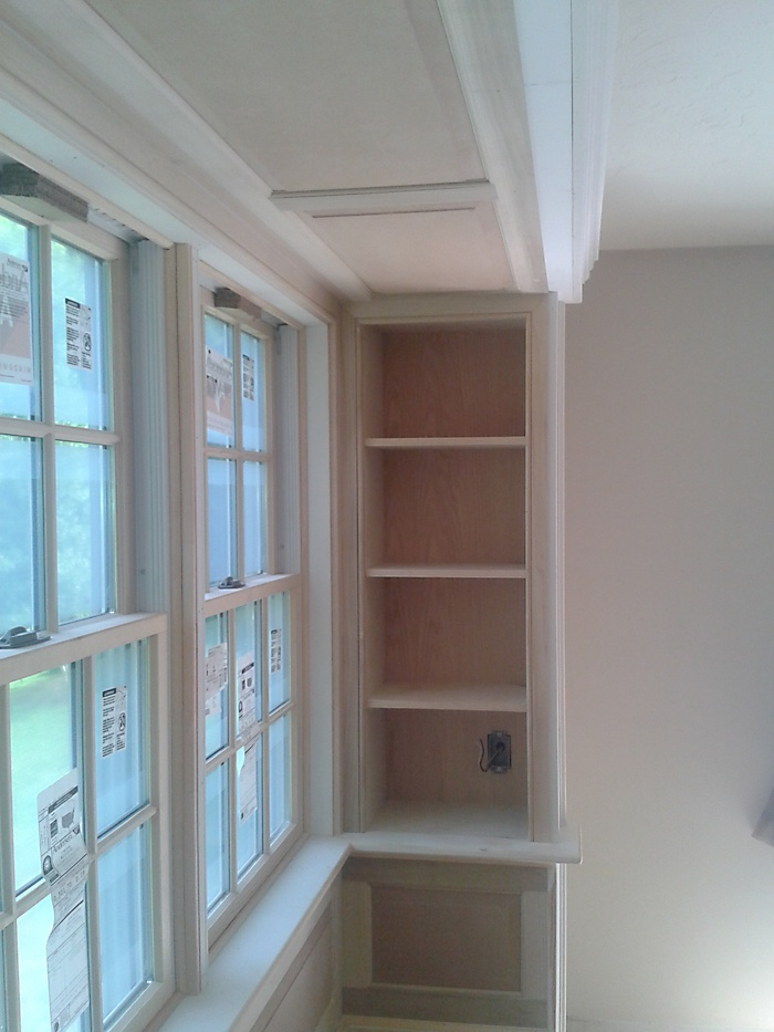 Custom Bay Window Seat With Built Ins Colony Home