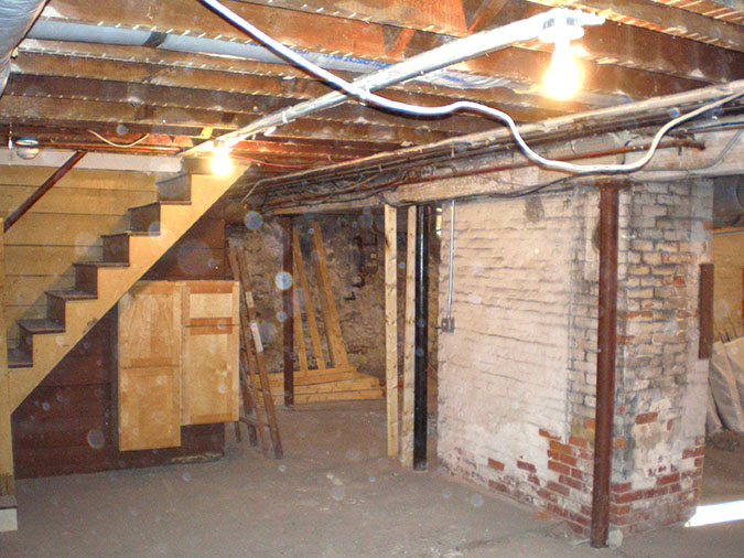 Old Basement Remodel Basement Remodel Brookline  Colony Home Improvement
